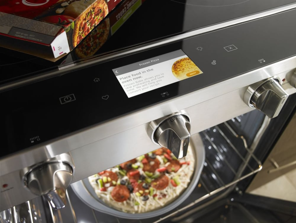 whirlpool wee750h0hz 30 inch slide in electric range with true convection touchscreen scan to. Black Bedroom Furniture Sets. Home Design Ideas