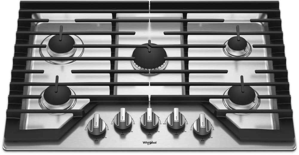 7239501ca02 Whirlpool WCG97US0HS 30 Inch Gas Cooktop with Griddle