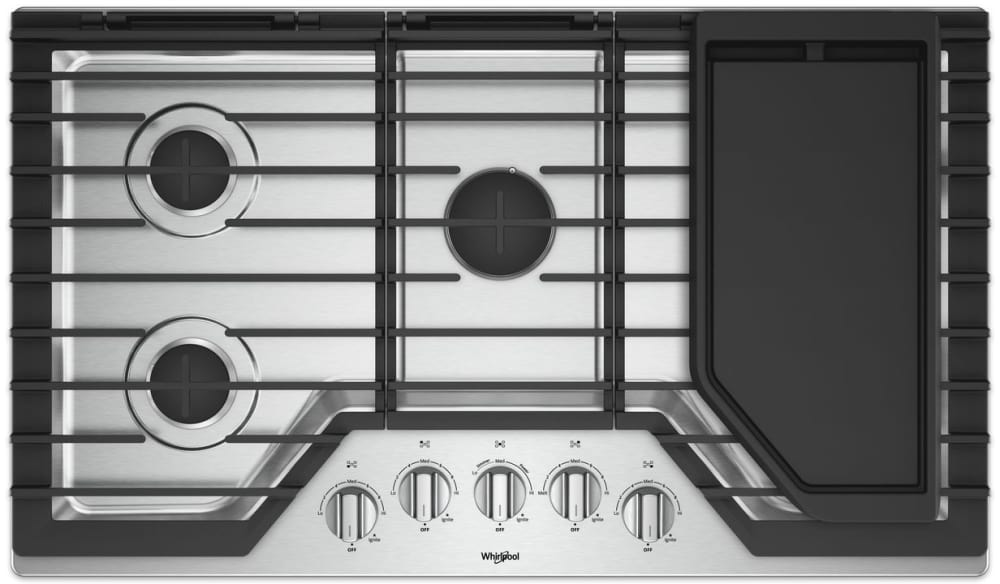 Whirlpool WCG97US6HS 36 Inch Gas Cooktop with Griddle, EZ-2-Lift ...