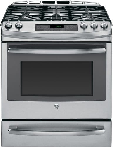 Ge P2s920sefss 30 Inch Slide In Dual Fuel Range With True