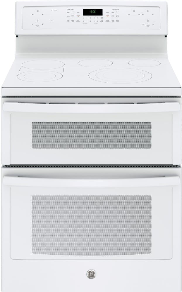ge pb960tjww 30 inch freestanding double oven electric range with true convection  chef connect