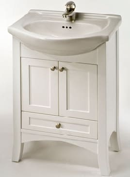 Empire Industries Pe22w 22 Inch Contemporary Vanity With Cabinet Doors Drawer And Optional Ceramic Countertops White
