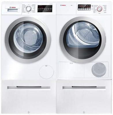 Bosch Bowadrew15 Side By Side On Pedestals Washer Amp Dryer