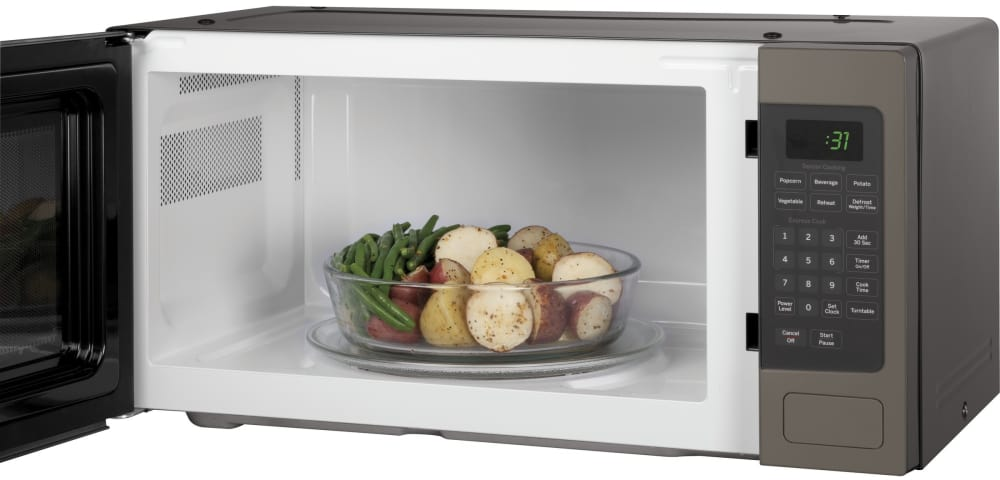 Ge Pem31efes 1 1 Cu Ft Countertop Microwave Oven With