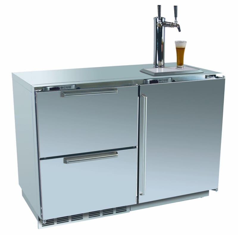 Perlick HP48RTO 48 Inch Undercounter Refrigerator/Beer Dispenser ...