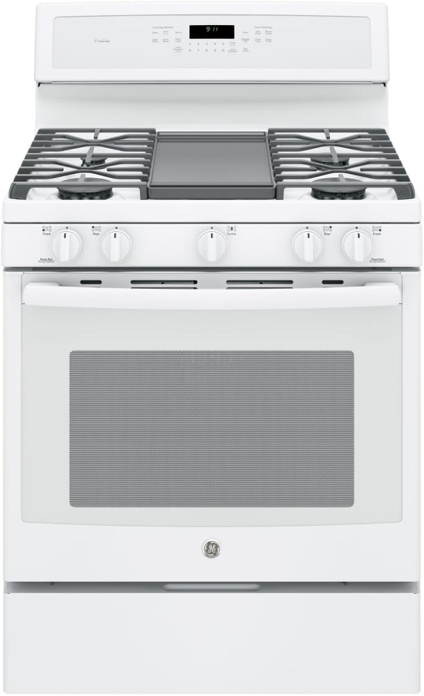 Ge Profile Pgb911dejww 30 Freestanding Gas Range With Integrated Grill Griddle