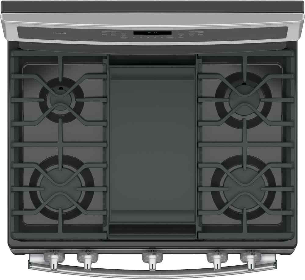 Ge Profile Pgb911sejss Top View Featuring Griddle