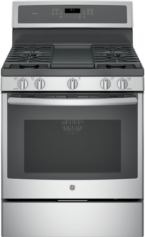 Ge Profile Pgb911sejss 30 Freestanding Gas Range With Integrated Grill Griddle