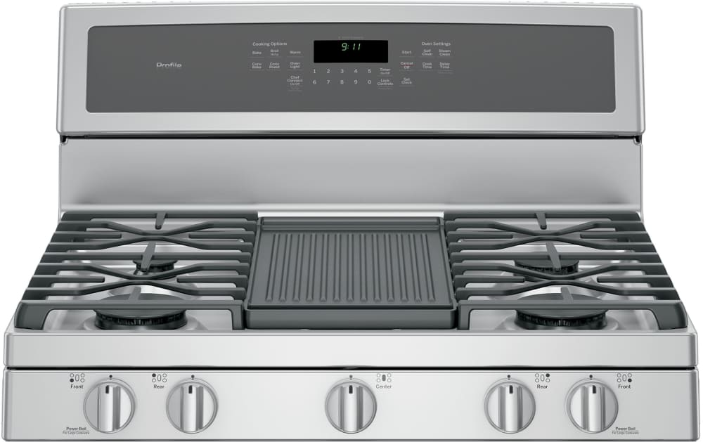 ... GE Profile PGB911ZEJSS   Cooktop View And Control Panel, Featuring  Grill ...