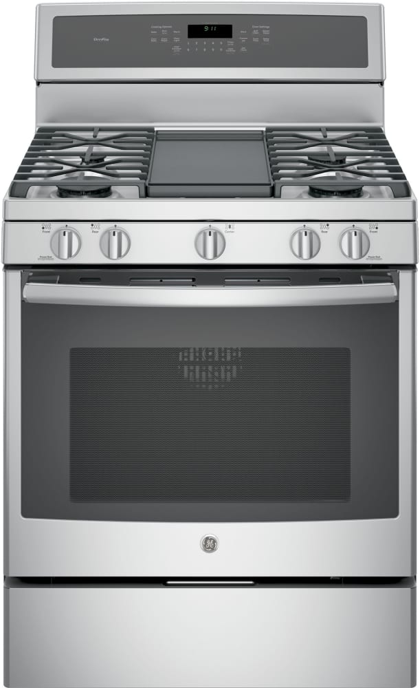 Ge Profile Pgb911zejss 30 Freestanding Gas Range With Integrated Grill Griddle Stainless