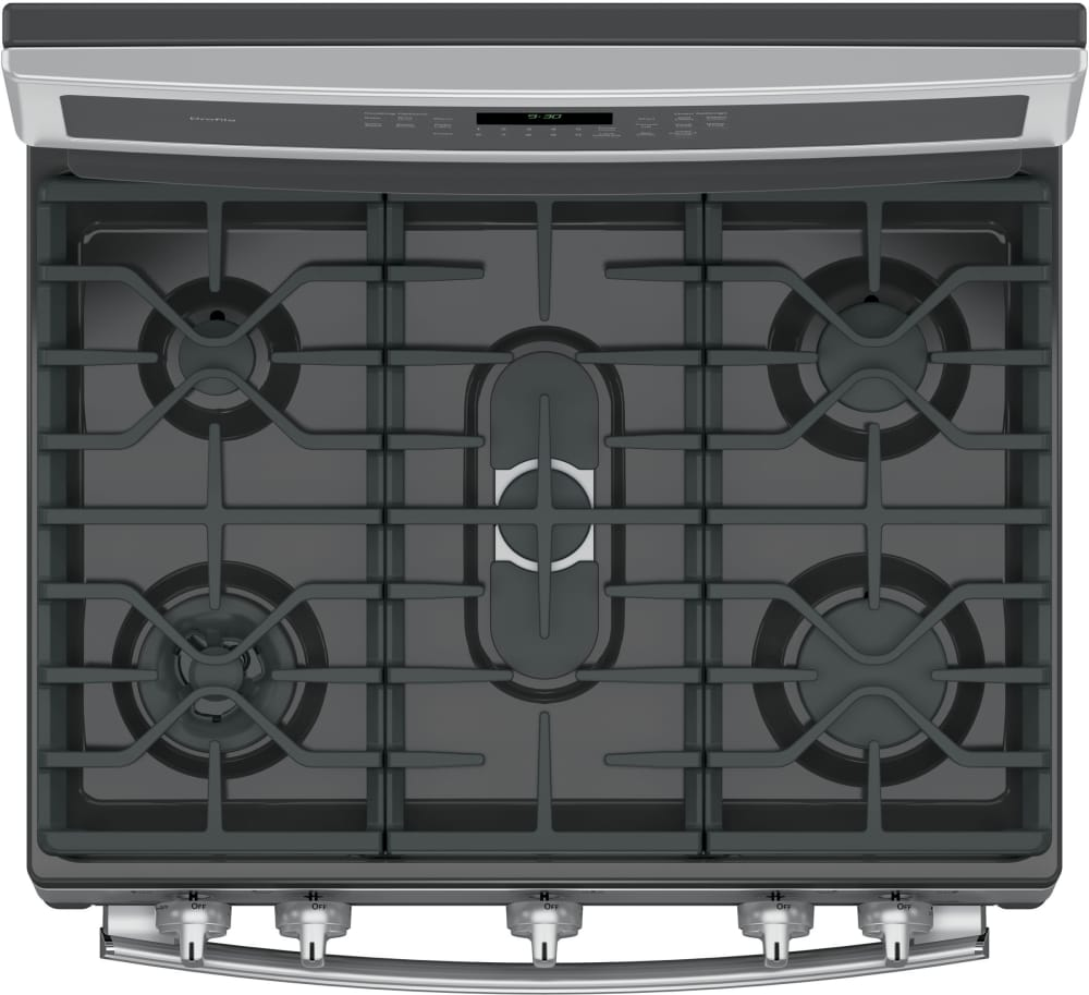 White apron chef fresno -  Ge Profile Pgb930sejss Continuous Grates With Dual Oval Center Burner