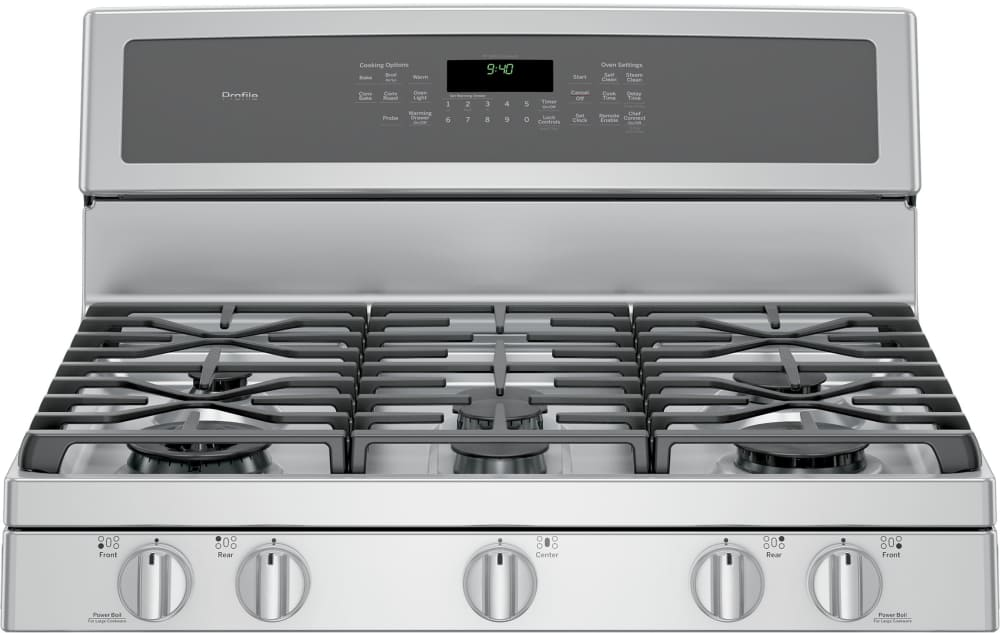 Ge Pgb940zejss 30 Inch Freestanding Gas Range With Convection  Chef Connect  Wi