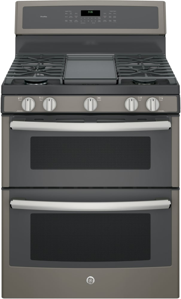 Double Oven Griddle ~ Ge pgb eejes inch freestanding double oven gas range