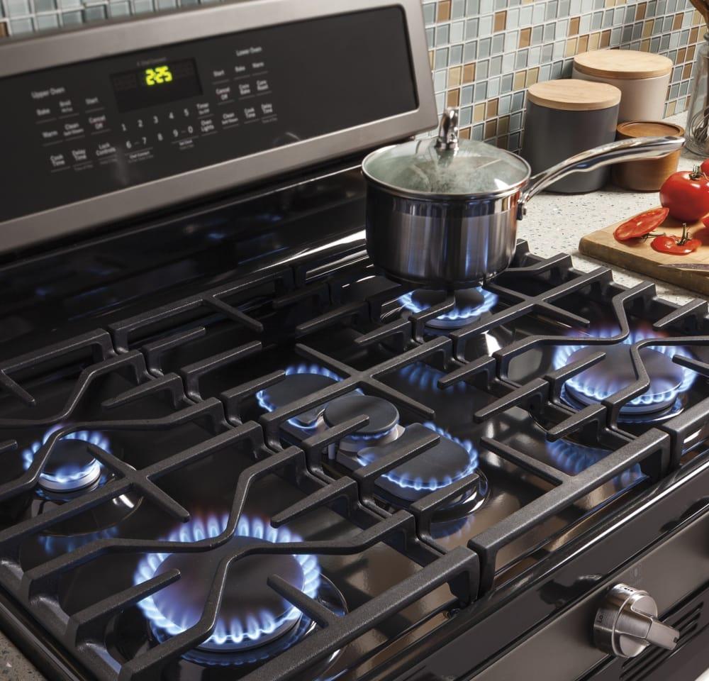 Ge profile 5 burner gas range -  Ge Profile Pgb960sejss 5 Sealed Burners