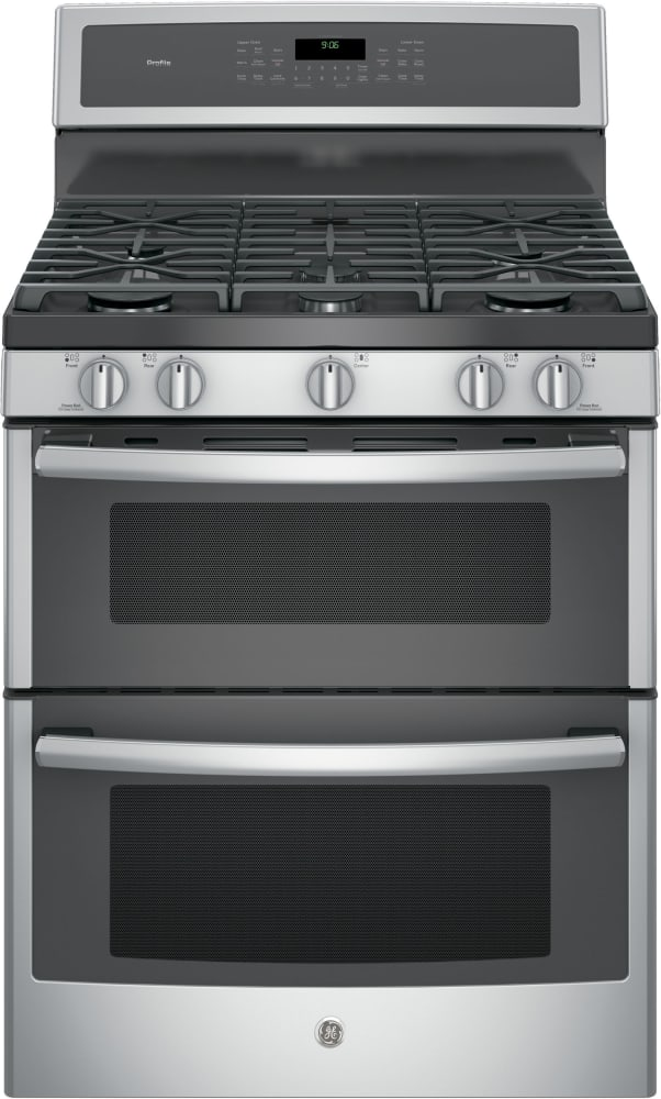 Ge Profile Pgb960sejss Series Freestanding Gas Double Oven Range With 5 Sealed Burners