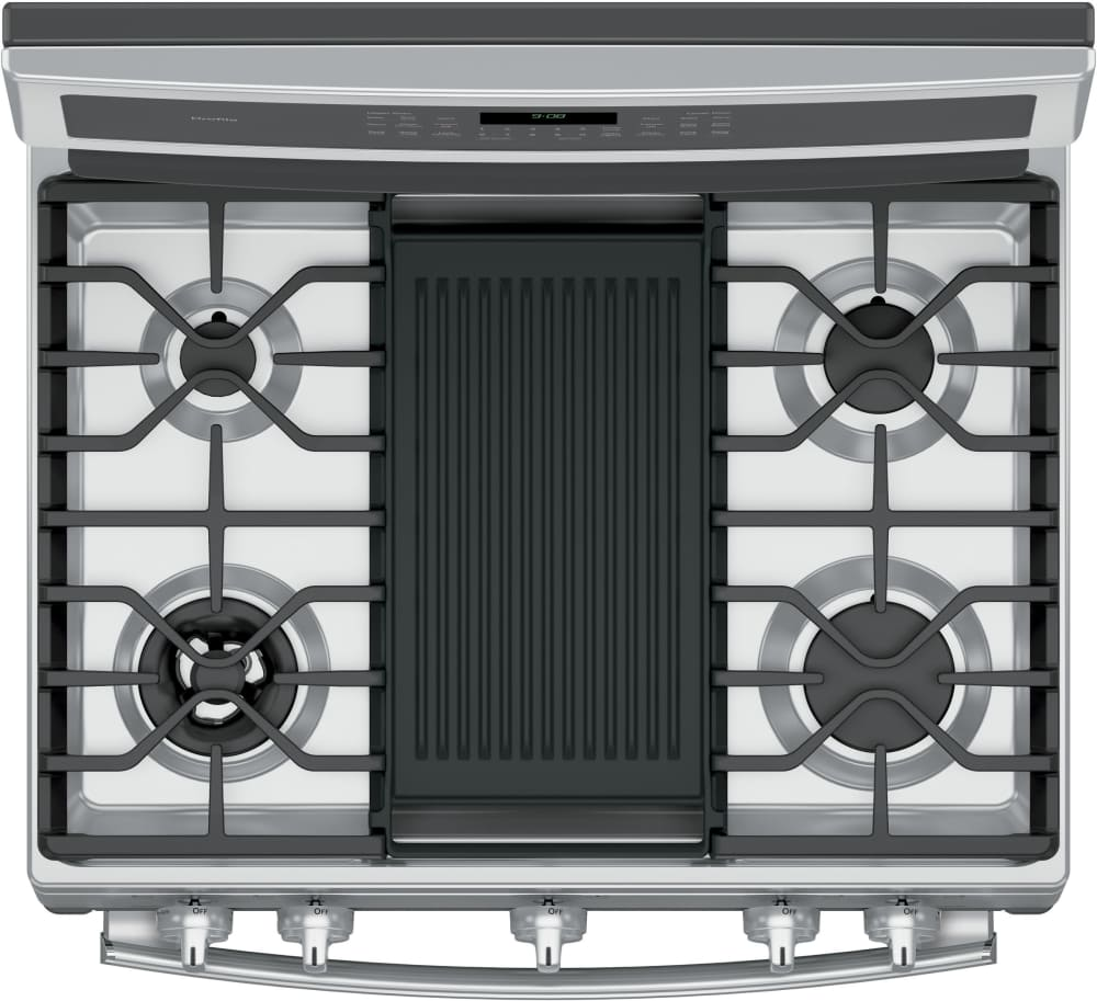 Kitchen gas stove top view -  Featuring Griddle Ge Profile Pgb980zejss Top View Featuring Grill