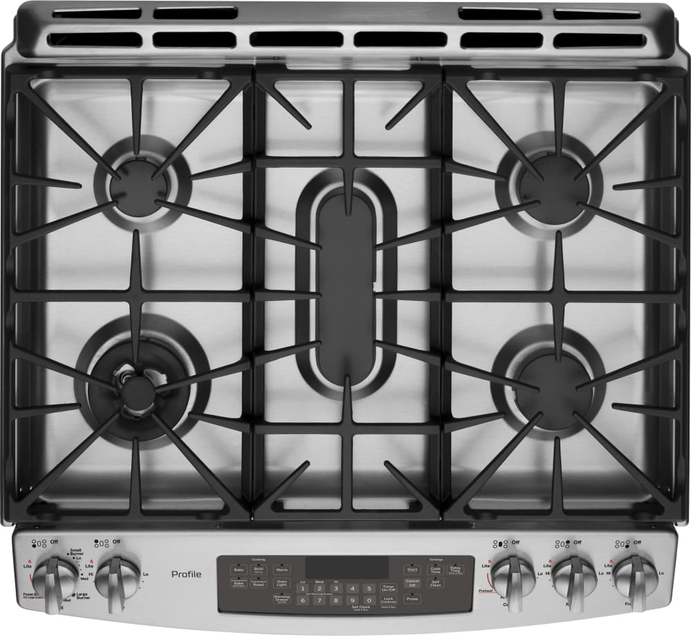 ge profile pgs920sefss cooktop view