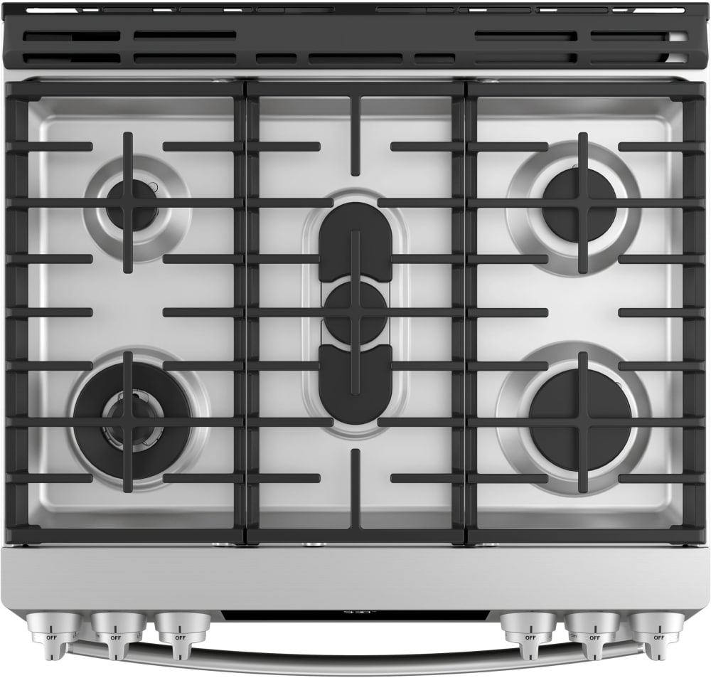 Ge Pgs930selss 30 Inch Slide In Gas Range With True Convection Wifi Wiring Electric Oven And Hob Profile Stainless Steel Cooktop