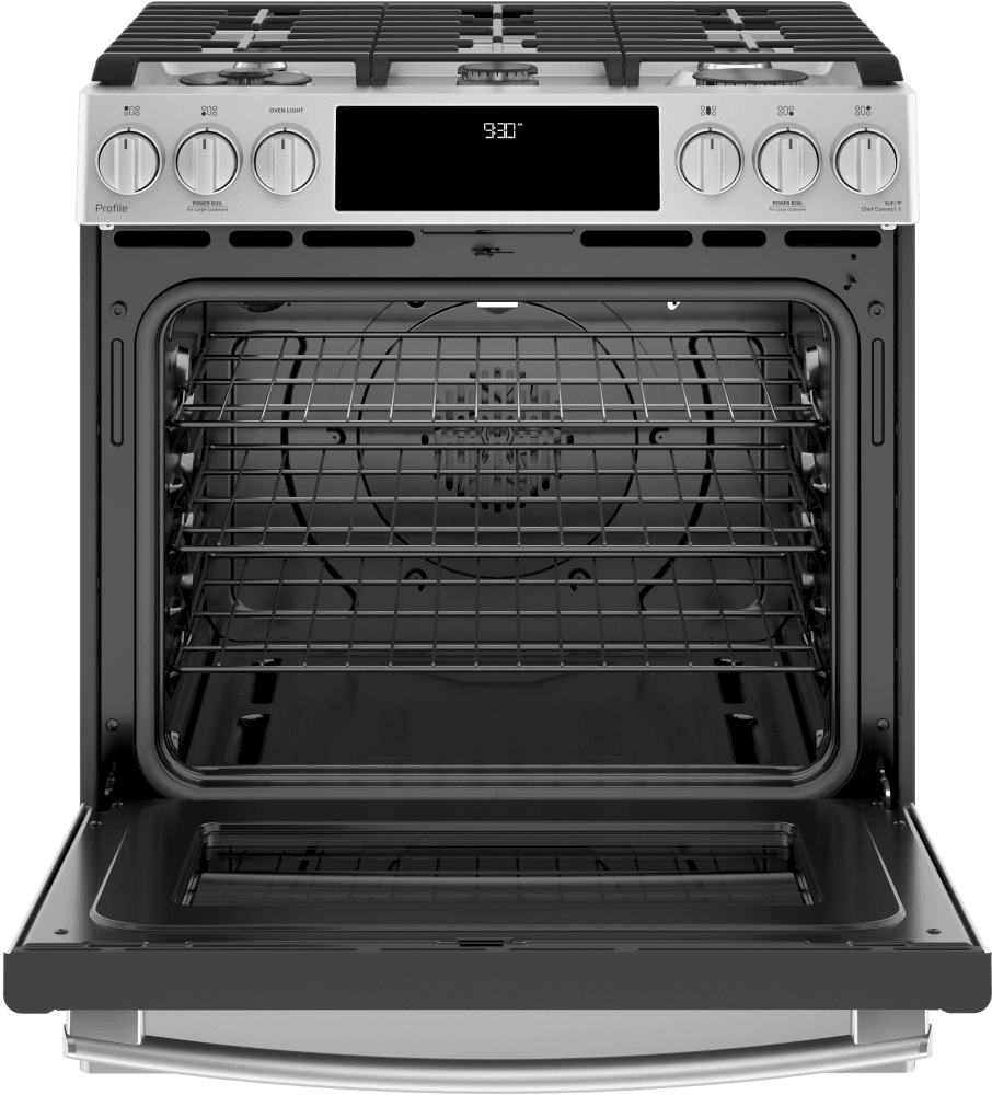 Ge Pgs930selss 30 Inch Slide In Gas Range With True