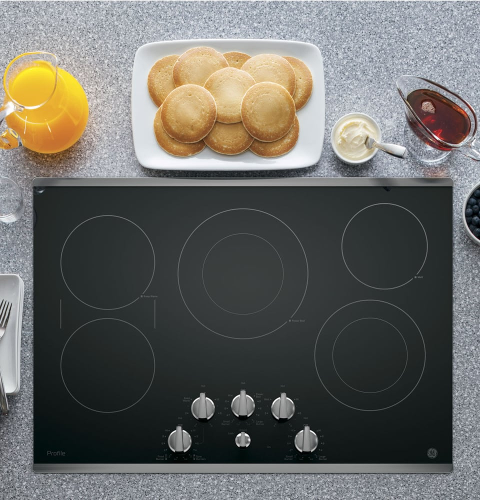 Ge Pp7030sjss 30 Inch Electric Cooktop With 5 Radiant
