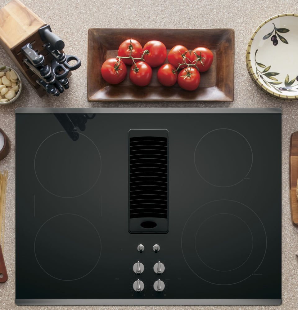 ge pp9830sjss 30 inch smoothtop electric cooktop with 4. Black Bedroom Furniture Sets. Home Design Ideas
