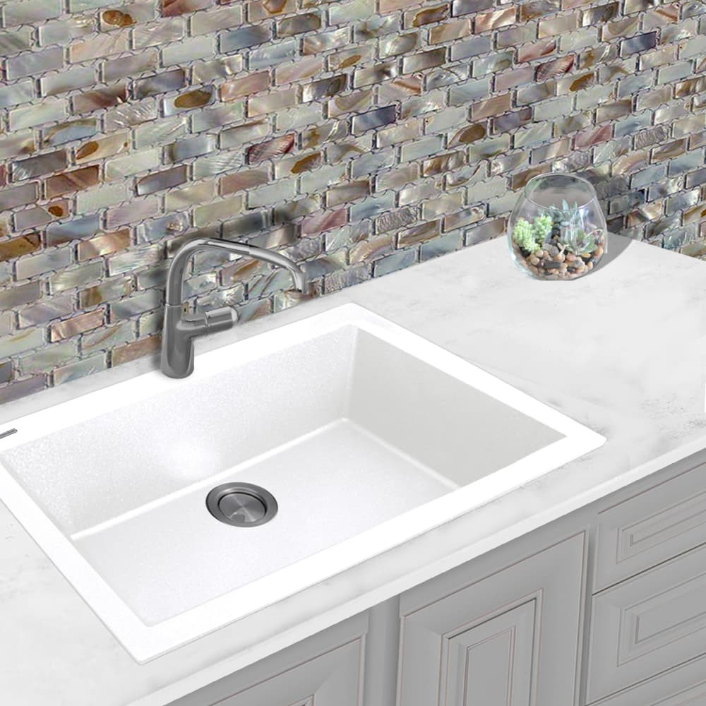 Nantucket sinks plymouth collection pr3020dmw white lifestyle view