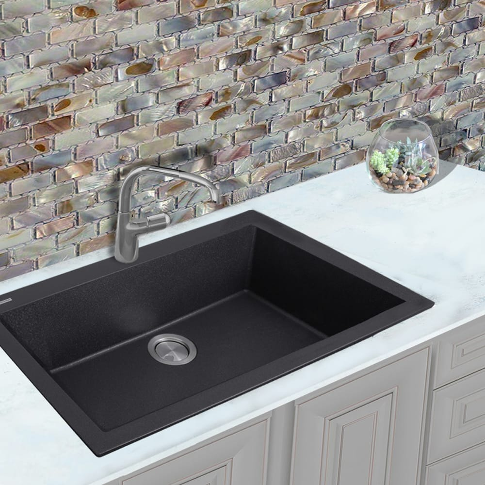 Nantucket sinks plymouth collection pr3322dmbl black lifestyle view