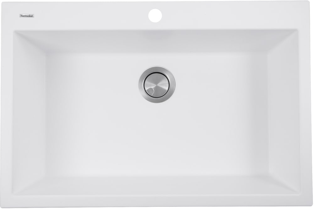 Nantucket Sinks Plymouth Collection Pr3322dmw White Top View