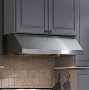 Vent A Hood Prh9242ss Under Cabinet Range Hood With Constant Speed Magic Lung Blower System Led Lighting Filterless Design Centrifugal Filtration Sensasource Heat Sensor Fire Safe Design Quiet Operation And Ul Listed 42 Inch 600 Cfm Blower