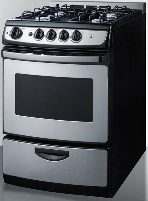 Summit White Pearl Series Pro246ssrt Gas Range From