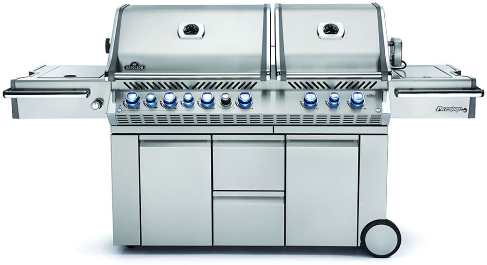 Napoleon Prestige Pro Series Pro825rsbipss 95 Stainless Steel Barbecue Grill With 123 000 Total Btu