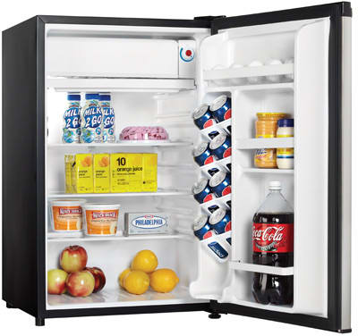 danby designer series dcr122 interior view filled - Danby Mini Fridge