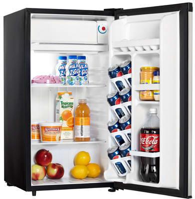 Danby Dcr88bsldd 32 Cu Ft Compact Refrigerator With Glass Shelves