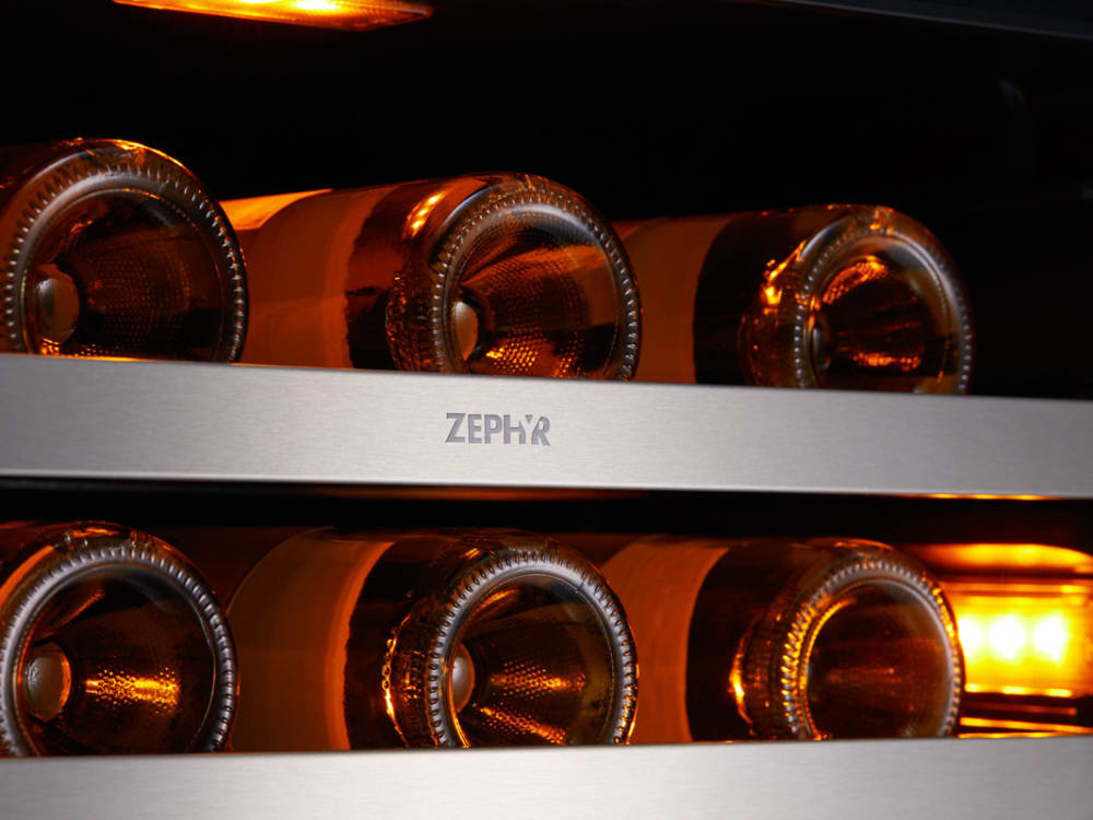 Zephyr Prw24f01ag 24 Inch Single Zone Wine Cooler With Led