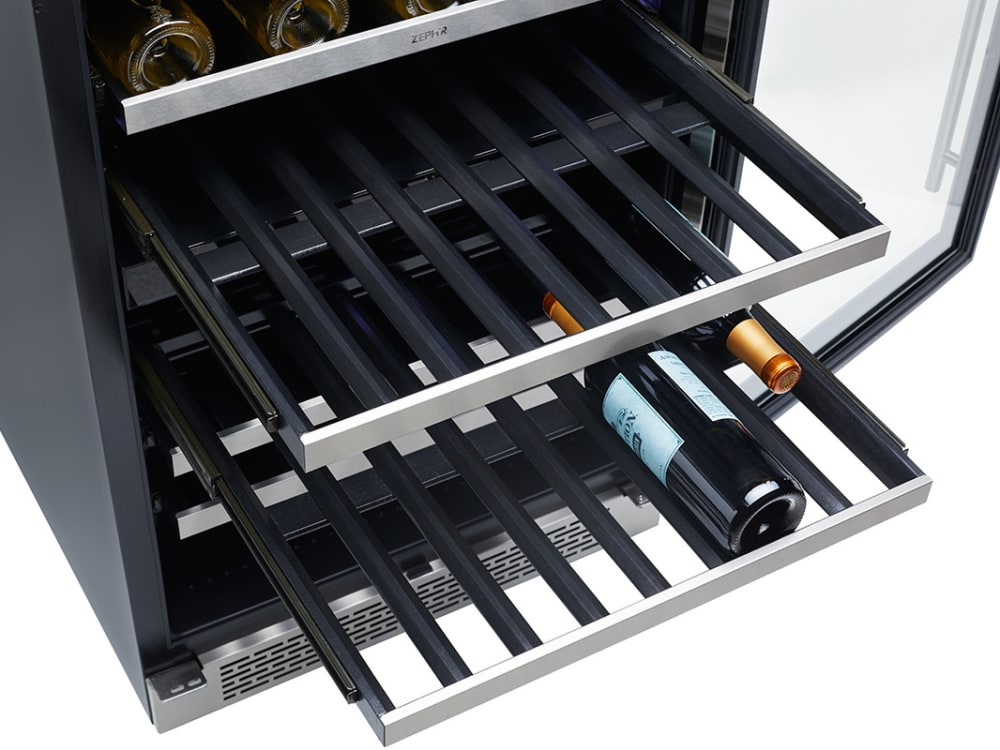 Zephyr Prw24c01ag 24 Inch Single Zone Wine Cooler With 54