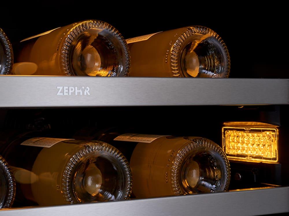 Zephyr Prw24c01bg 24 Inch Single Zone Wine Cooler With 5 6