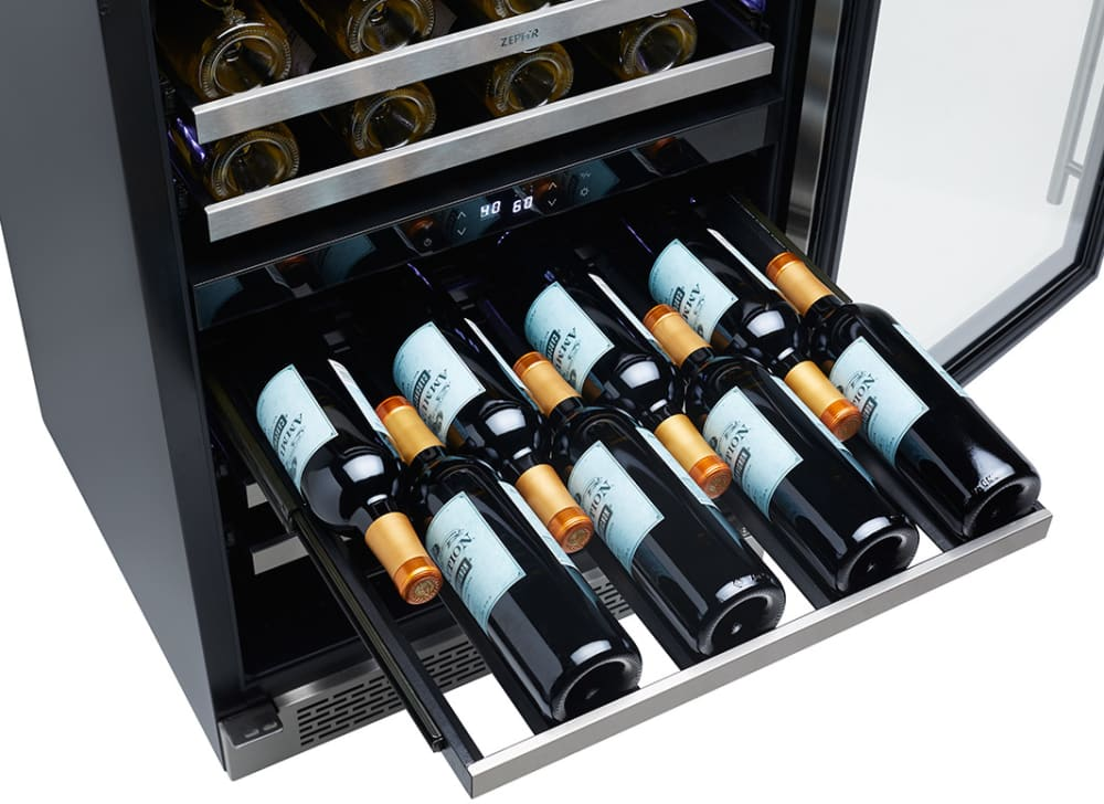 Zephyr Prw24c02ag 24 Inch Dual Zone Wine Cooler With 46