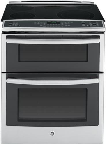 ge ps950sfss 30 inch slide in double oven electric range with true convection meat probe power. Black Bedroom Furniture Sets. Home Design Ideas