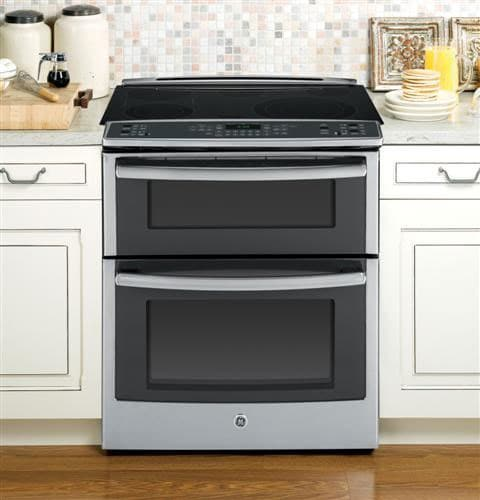 Open Oven In Kitchen: GE PS950SFSS 30 Inch Slide-in Double Oven Electric Range