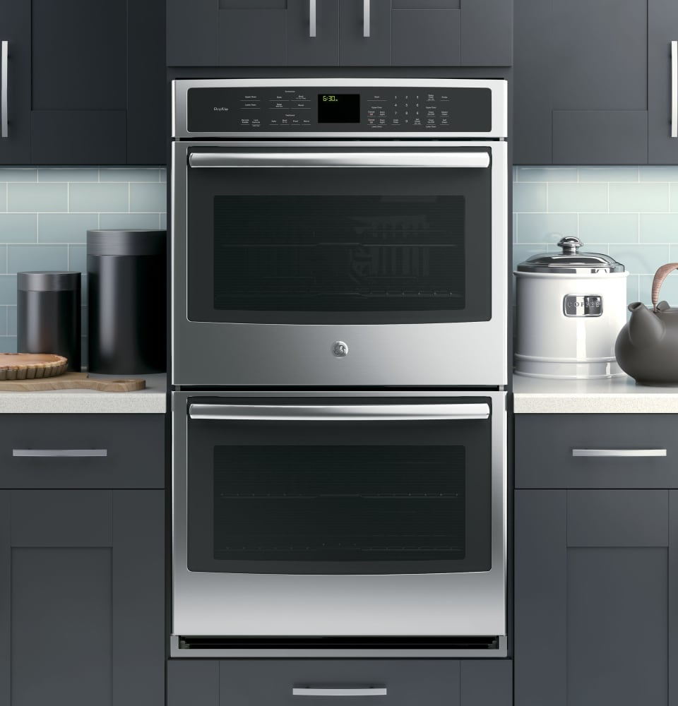 Ge Profile Pt9550sfss 30 Double Electric Wall Oven Lifestyle View