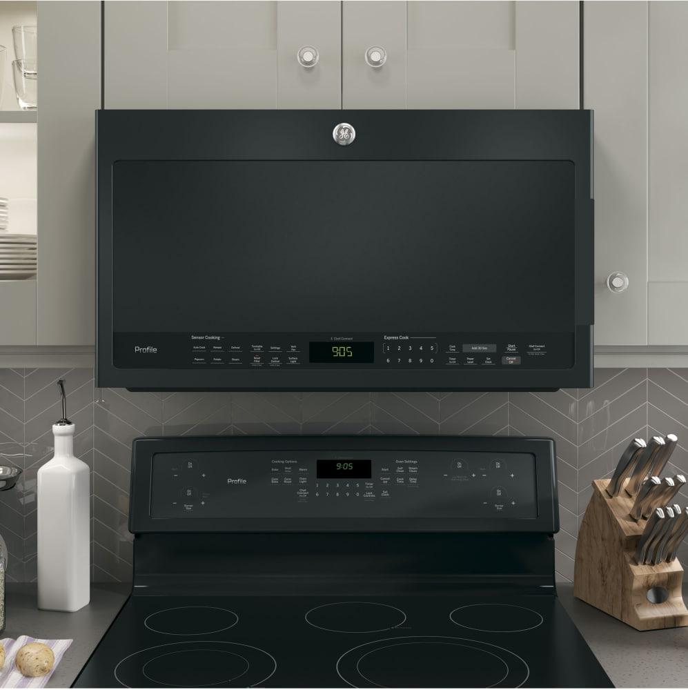 Ge Pvm9005djbb 2 1 Cu Ft Over The Range Microwave Oven