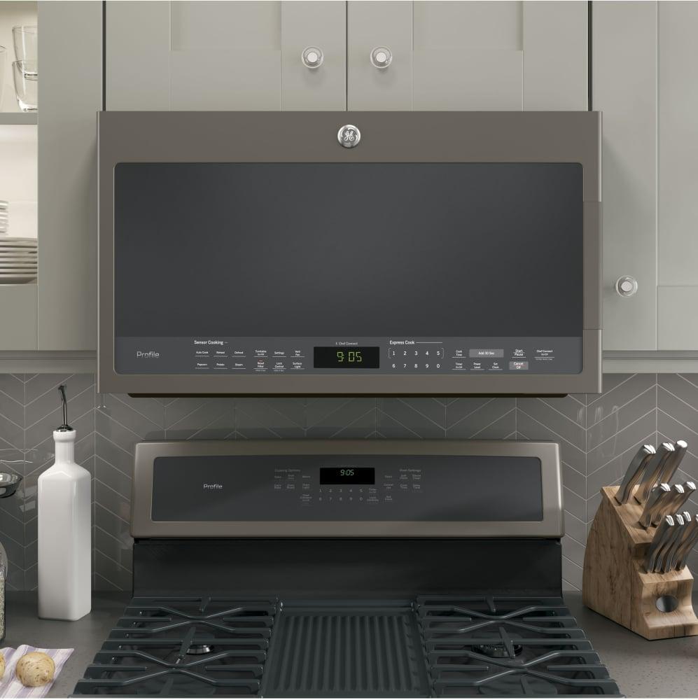 Ge Pvm9005ejes 2 1 Cu Ft Over The Range Microwave Oven