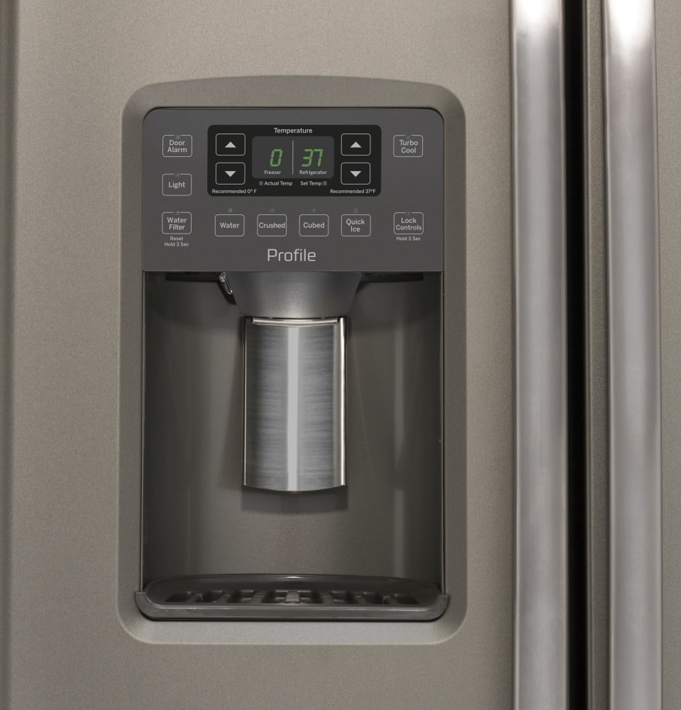 Ge Pzs22mmkes 36 Inch Side By Side Refrigerator With Turbo