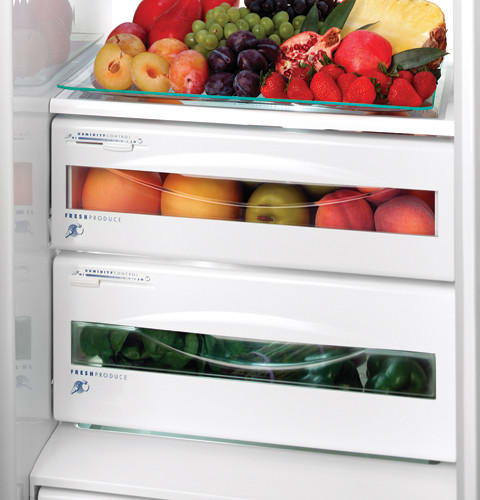 GE PSB42LSRBV 42 Inch Built In Side By Side Refrigerator With 25.2 Cu. Ft.  Capacity, 4 Glass Shelves, ClimateKeeper System, Gallon Door Storage And  External ...