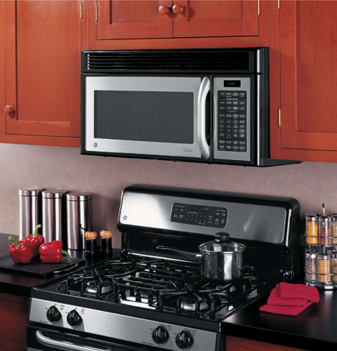 GE JVM1660SH 1 6 cu  ft  Over-the-Range Microwave Oven with