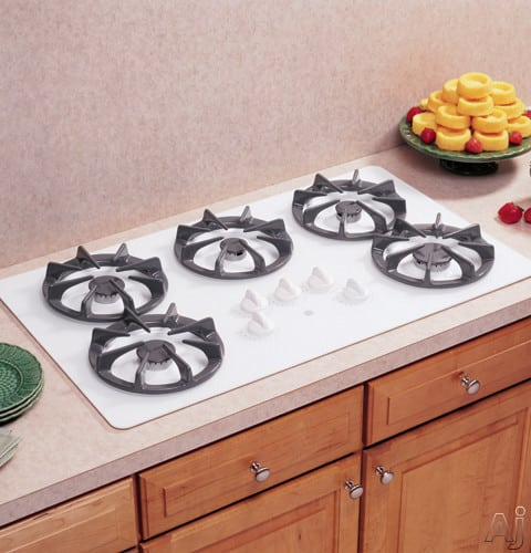 Ge Jgp637wejww 36 Inch Gas Cooktop With 5 Sealed Burners