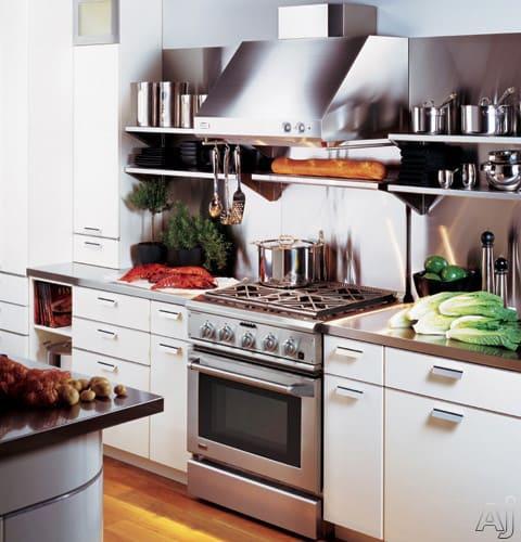Restaurant Kitchen Without Hood: Monogram ZV30SSFSS Professional Straight-Sided Wall Mount