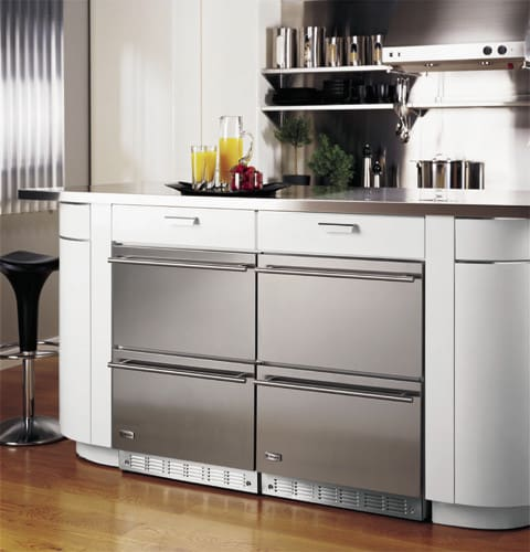 Monogram ZIDS240WSS 24 Inch Built-in Double Drawer Refrigerator With 5.0 Cu. Ft. Capacity, 146