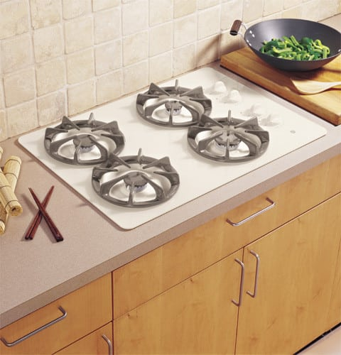 GE JGP337 30 Inch Gas Cooktop With 4 Sealed Burners High Output