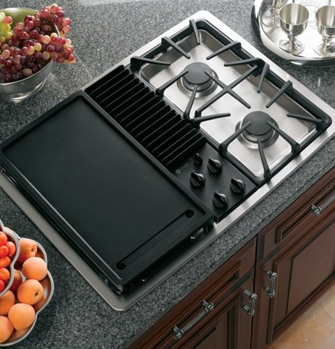 Ge Jgp990selss 30 Inch Downdraft Gas Modular Cooktop With